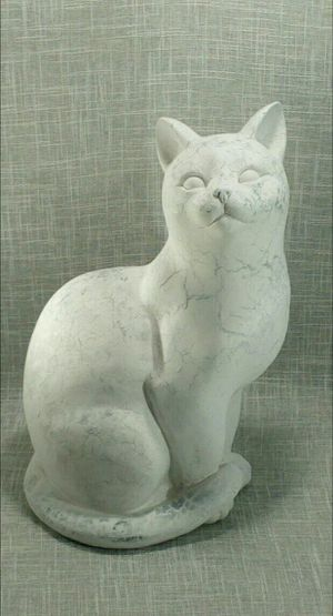 """Ceramic Cat Sculpture (life size)14""""x9""""x6"""" *PICKUP ONLY* home decor, household for Sale in Mesa, AZ"""