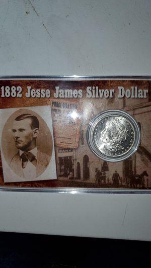 1882 Jesse James Silver Dollar for Sale in Potter, KS