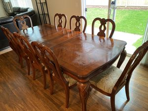Kitchen Dining Table with 8 stools 44x94 folds to 44x82 and to 44x70 for Sale in Kent, WA