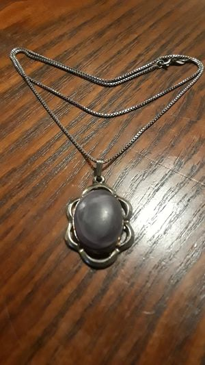 Gorgeous vintage Sterling Silver 925 pendant with Sterling Silver 925 necklace. for Sale in New York, NY