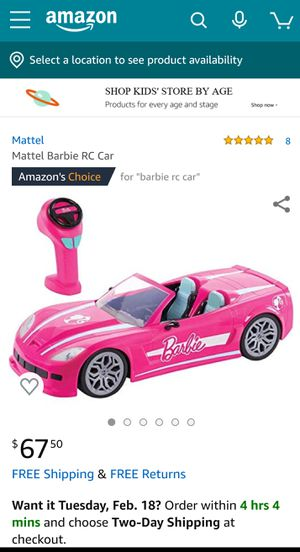 Mattel Barbie RC Car for Sale in Revere, MA