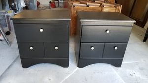 2 night stands refinished black and silver for Sale in Cedar Hill, TX