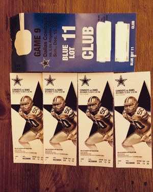 Dallas Cowboys VS LA Rams for Sale in Kennedale, TX