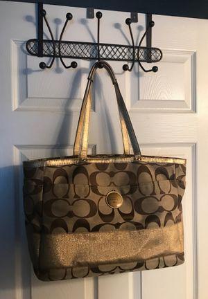 Coach Signature Stripe Multifunction Tote Diaper Bag Item: F15188 for Sale in Winter Springs, FL