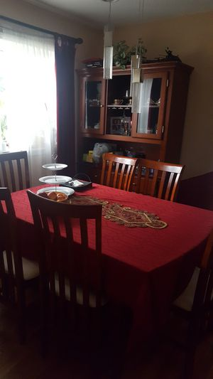 dining table ,6 chairs, and cabinet for Sale in Downers Grove, IL