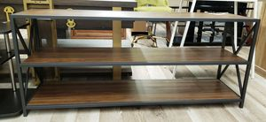 NEW Wood & Metal Media Console TV Stand for Sale in Burlington, NJ
