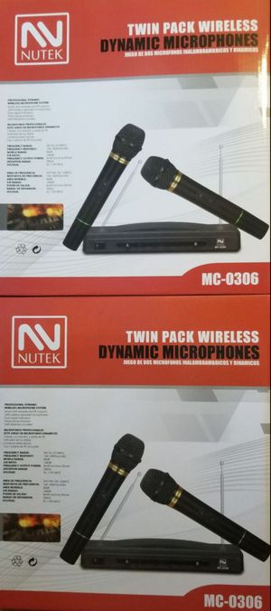 Dual wireless microphones for Sale in Moreno Valley, CA