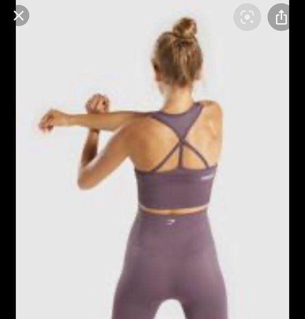 Gymshark energy seamless crop top purple wash   XS