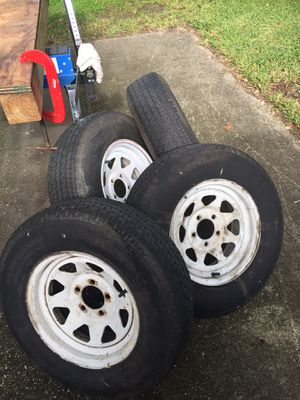 Used trailer tire and wheel assemblies for Sale in Maitland, FL