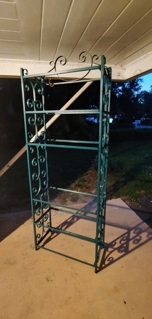 Tall Wrought Iron Etagere Display Glass Shelves for Sale in Stuart, FL