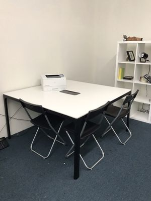 """IKEA Conference table, white, black, 55 1/8x55 1/8 """" for Sale in Los Angeles, CA"""