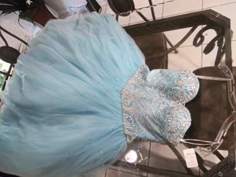 quinceanera dress blue for Sale in Miami,  FL