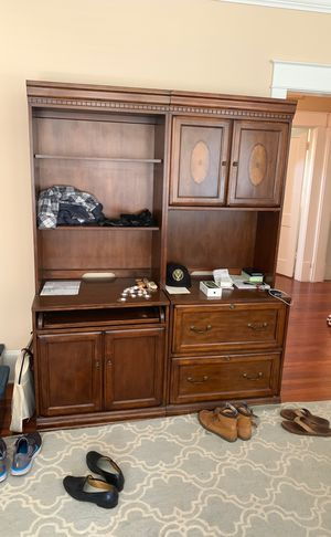Large wood desk (4 pieces) for Sale in Orlando, FL