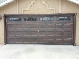 16x7 used like new garage door and opener for Sale in Sanger, CA