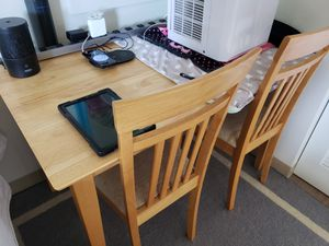 Wooden Table and 2 Chairs for Sale in Honolulu, HI