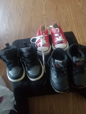 Used toddler Nikes, jordans and converse for Sale in Hampton, VA