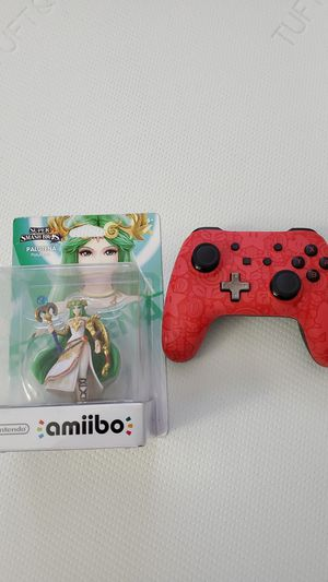 Palutena Amiibo and Super Mario Brothers Wired Controller (missing wire) for Nintendo Switch / Super Smash Bros for Sale in San Jose, CA