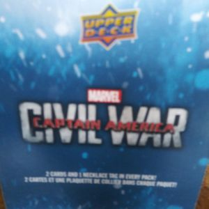 BRAND NEW 2016 MARVEL CIVIL WAR CAPTAIN AMERICA TRADING CARDS BOOSTER BOX WAL-MART EXCLUSIVE for Sale in Warwick, RI