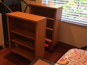 Two Oak Bookshelves for Sale in Miami, FL