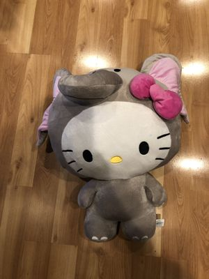 Hello Kitty stuffed animal with elephant costume on about 22 inches tall for Sale in San Jose, CA