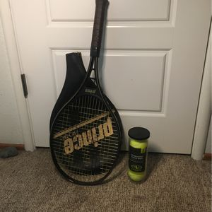 Prince Tennis Racket And Balls for Sale in Rancho Cordova, CA