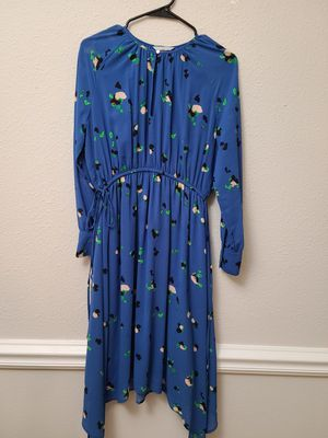 Blue H&M dress with vintage colorway pattern and cinched waist for Sale in Columbia, MD