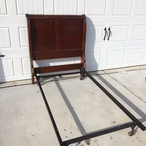 Twin Sleigh Bed Headboard & Frame for Sale in Raleigh, NC