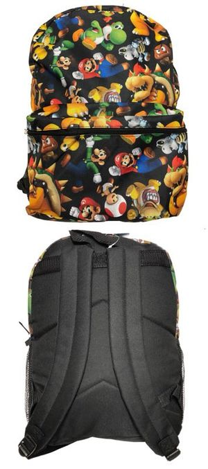 Brand NEW! Super Mario Brothers Backpack For School/Traveling/Everyday Use/Christmas Gifts/Birthday Gifts $18 for Sale in Carson, CA