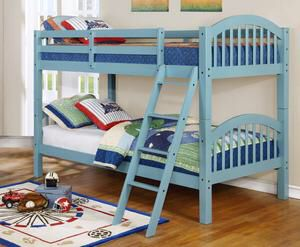 Ryder Light Blue Twin over Twin Bunk Bed for Sale in Austin, TX