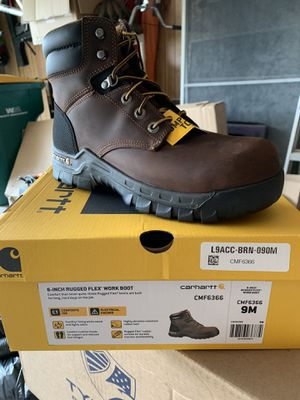 Carhartt work boot steel toe size 9 for Sale in Plainfield, IL