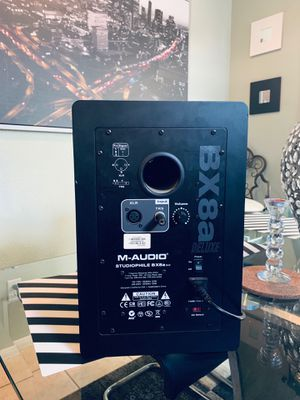 2pc BX8a M-audio deluxe speaker high quality 2 speaker for Sale in Henderson, NV