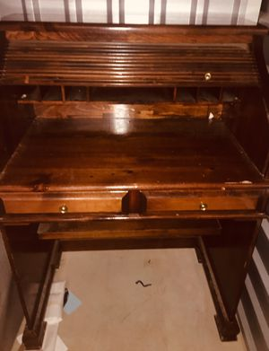 Antique wood roll top desk for Sale in Bel Air, MD