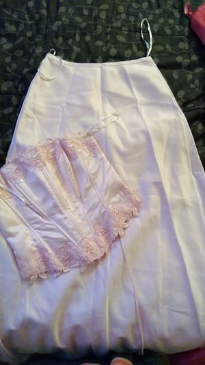 Long baby pink Skirt and corset top for Sale in Germantown, MD