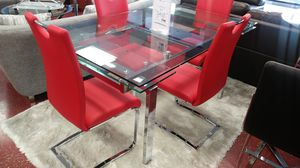 """Modern Dining Set $1100 Extended table 86"""" for Sale in Hialeah, FL"""