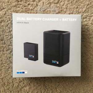 GoPro HERO5 Black Dual Battery Charger + Battery for Sale in Newport News, VA