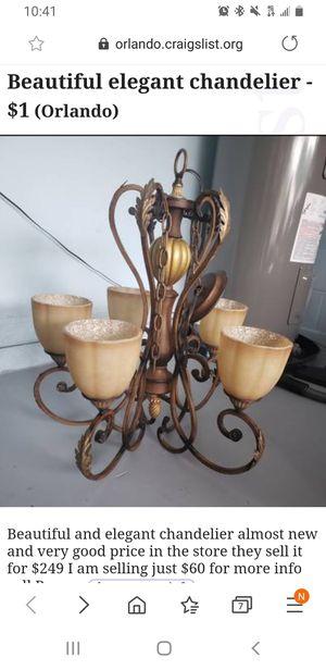 Beautiful chandelier almost new for Sale in Alafaya, FL