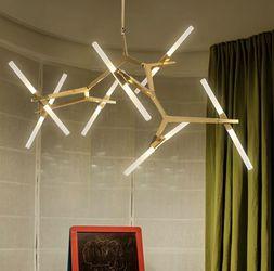 ⭐️ NEW! Gold Frame Industrial Modern 14 Light Chandelier for Sale in Miami,  FL