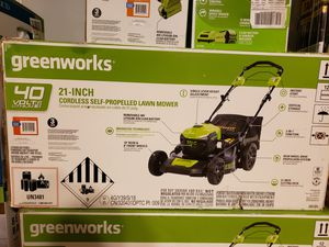 """Greenworks 21"""" Cordless Self Propelled Lawnmover for Sale in Millington, TN"""