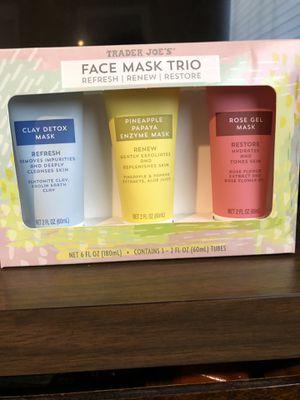 Trader Joe's Face Mask Trio for Sale in Fresno, CA