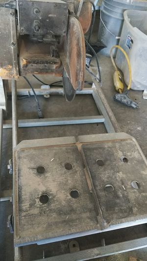 Used tile table saw really good for small or big job is old but work like a champion for Sale in Salt Lake City, UT