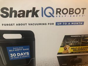 Shark IQ R101AE with Self-Empty Base, Wi-Fi Connected, Home Mapping, Works with Alexa, Ideal for Pet Hair, Carpets , Hard Floors Robot Vacuum (RV1001A for Sale in Fayetteville, NC