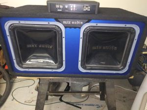 "2 - 12"" MTX subwoofers with a Rockford Fosgate 1000 watt amp for Sale in Apache Junction, AZ"