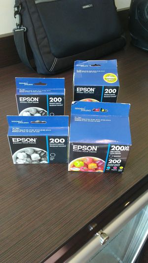 Epson 200 printer ink. 4 various boxes for Sale in US