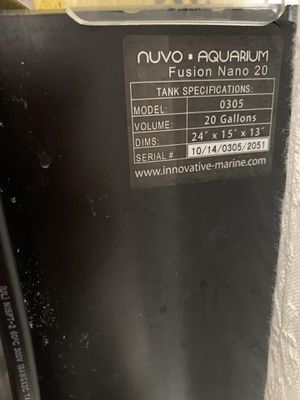 Nuvo Fusion 20 gallons aqurium / Fish tank AIO with stand for Sale in Monterey Park, CA