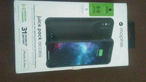 IPhone Xs Max Mophie juice pack acces protective battery case with lightning Port access and wireless charging for Sale in Fresno, CA