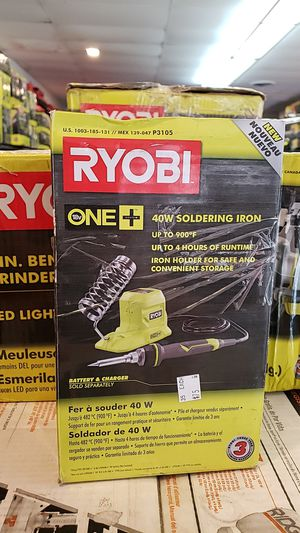 Ryobi 40 watt soldering iron $75 with battery and charger for Sale in La Habra Heights, CA