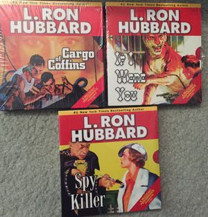 L.Ron Hubbard audio cd's unabridged lot of stories 1 sealed pulp fiction for Sale in Hollywood, FL
