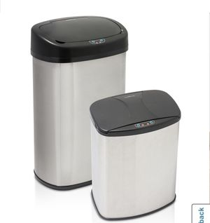 2 Pair Motion activated trash can set (13 gallon and 4 gallon) brand new! for Sale in Long Beach, CA