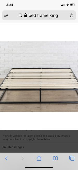 Cali king bed frame for Sale in Bakersfield, CA