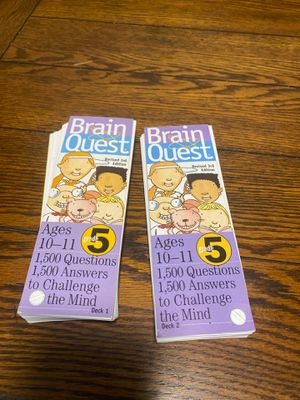 Brain quest decks 5th grade ages 10-11 for Sale in West Hartford, CT